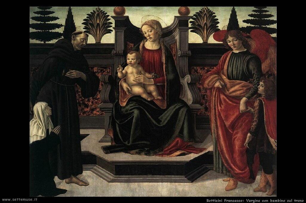 Vergine con bambino in trono