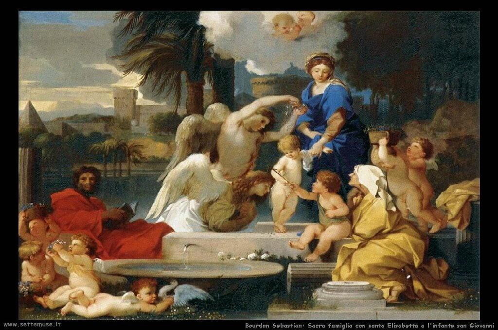 Sacra famiglia con santa Elisabetta e san Giovanni