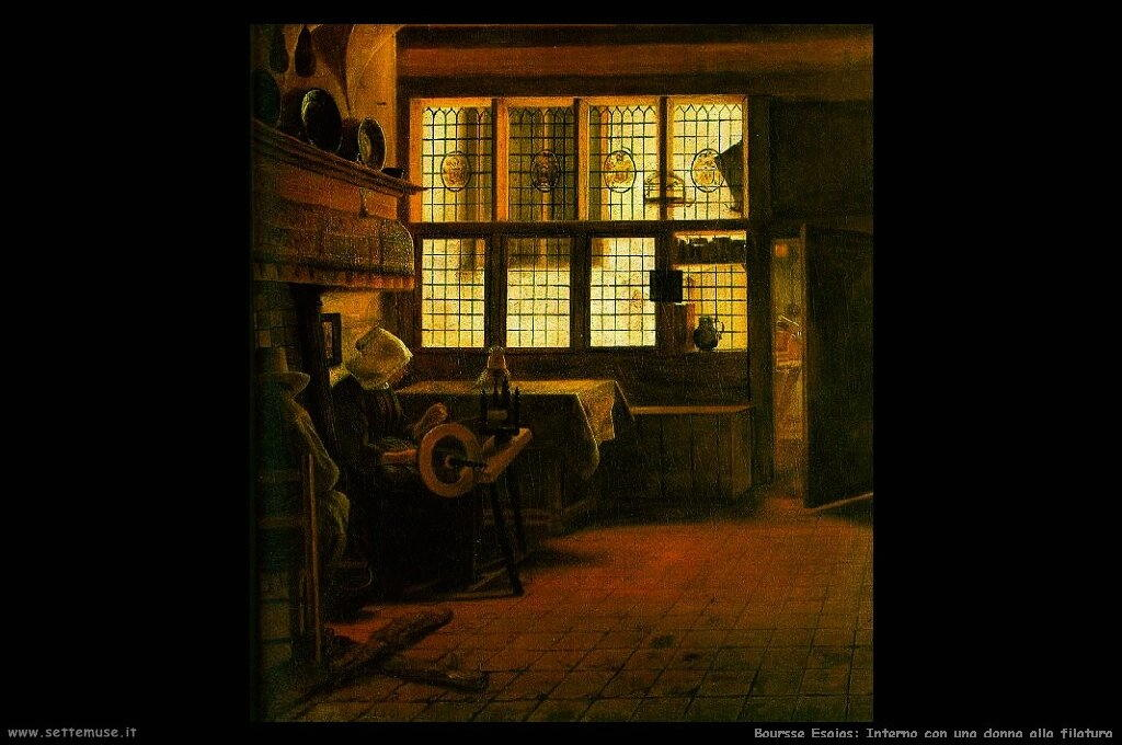 boursse_esaias_503_interior_with_a_woman_at_a_spinning