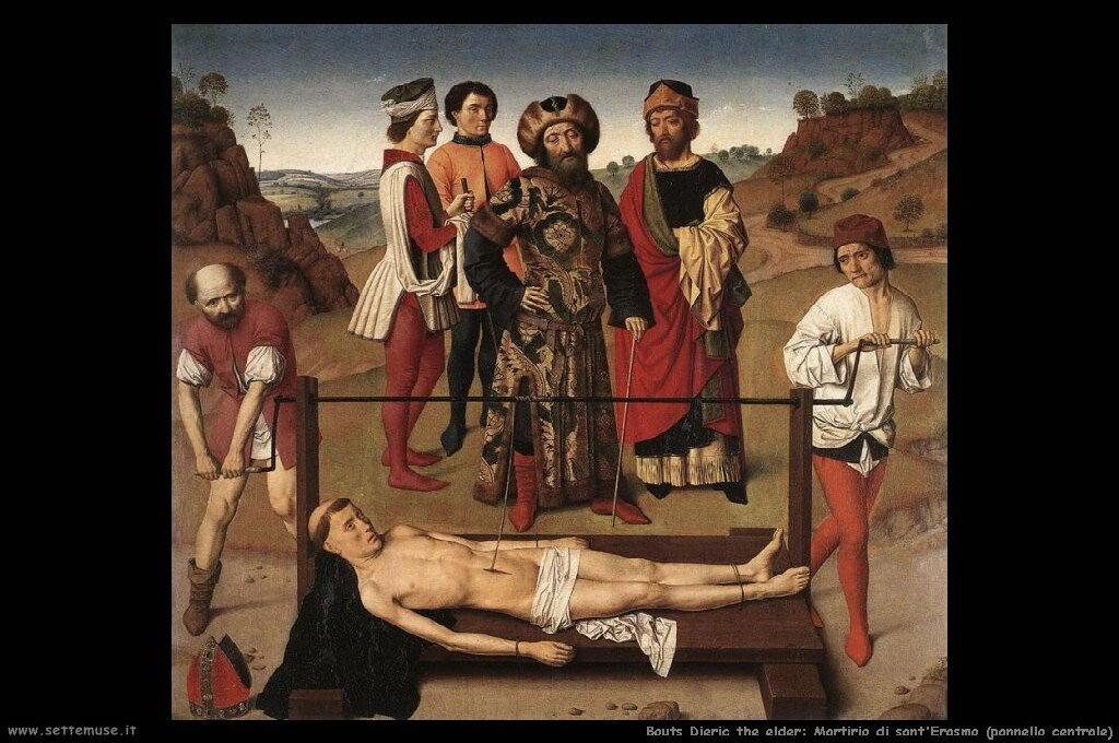 Martirio di sant'Erasmo, pannello centrale