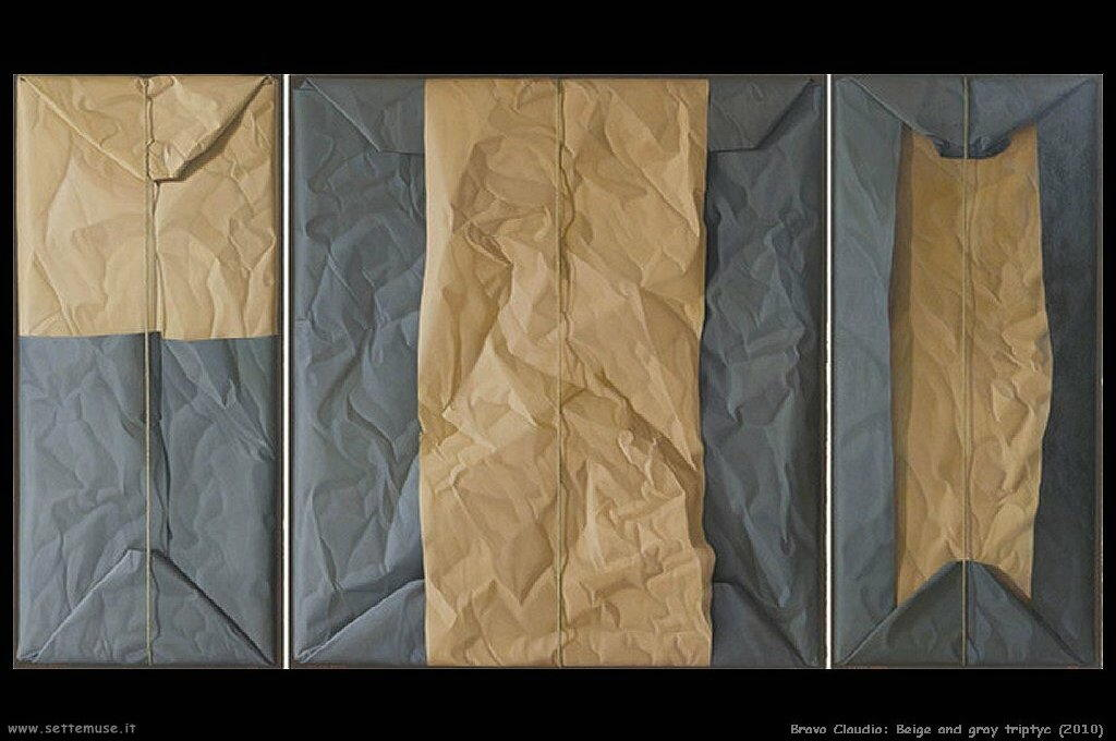 Beige and gray triptych (2010)