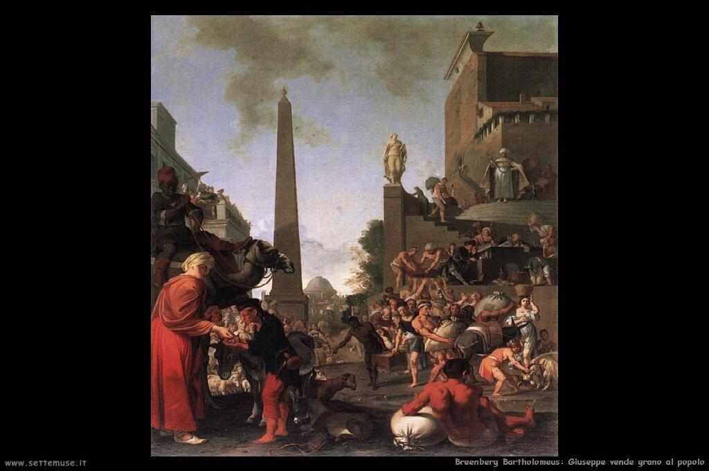 Giuseppe vende grano al popolo