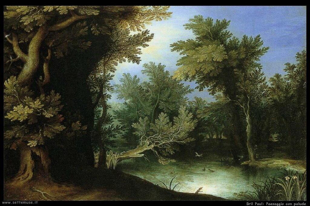 Paesaggio con palude