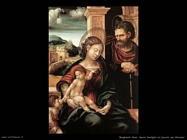 Sacra famiglia con san Giovanni bambino