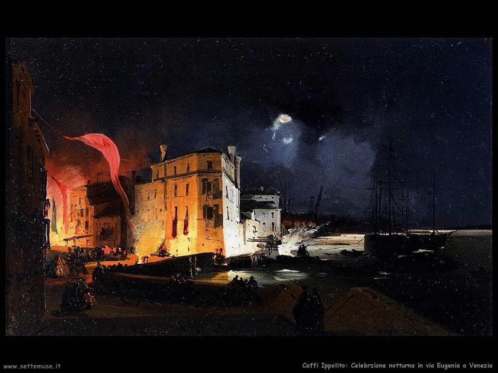 caffi ippolito  Celebrazione notturna in via Eugenia -Venezia-