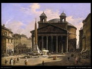 Vista del Pantheon a Roma