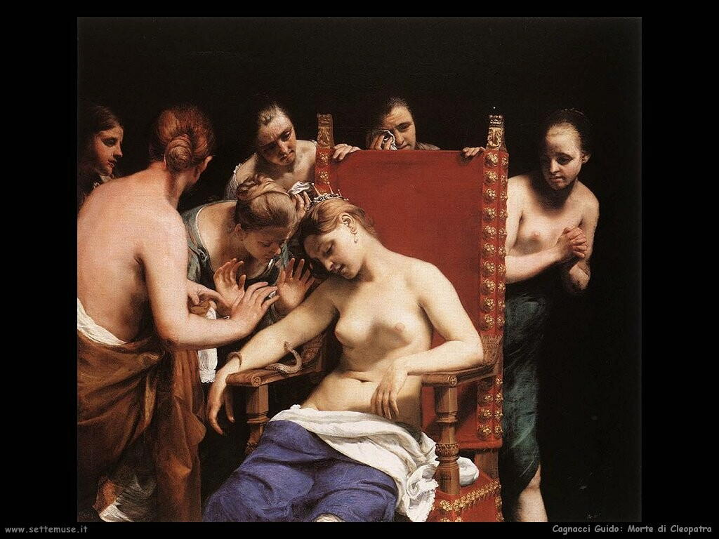 Guido Cagnacci - Morte di Cleopatra