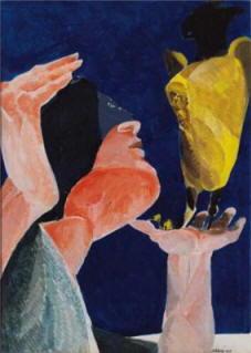 Ennio Calabria: Donna con pappagallo