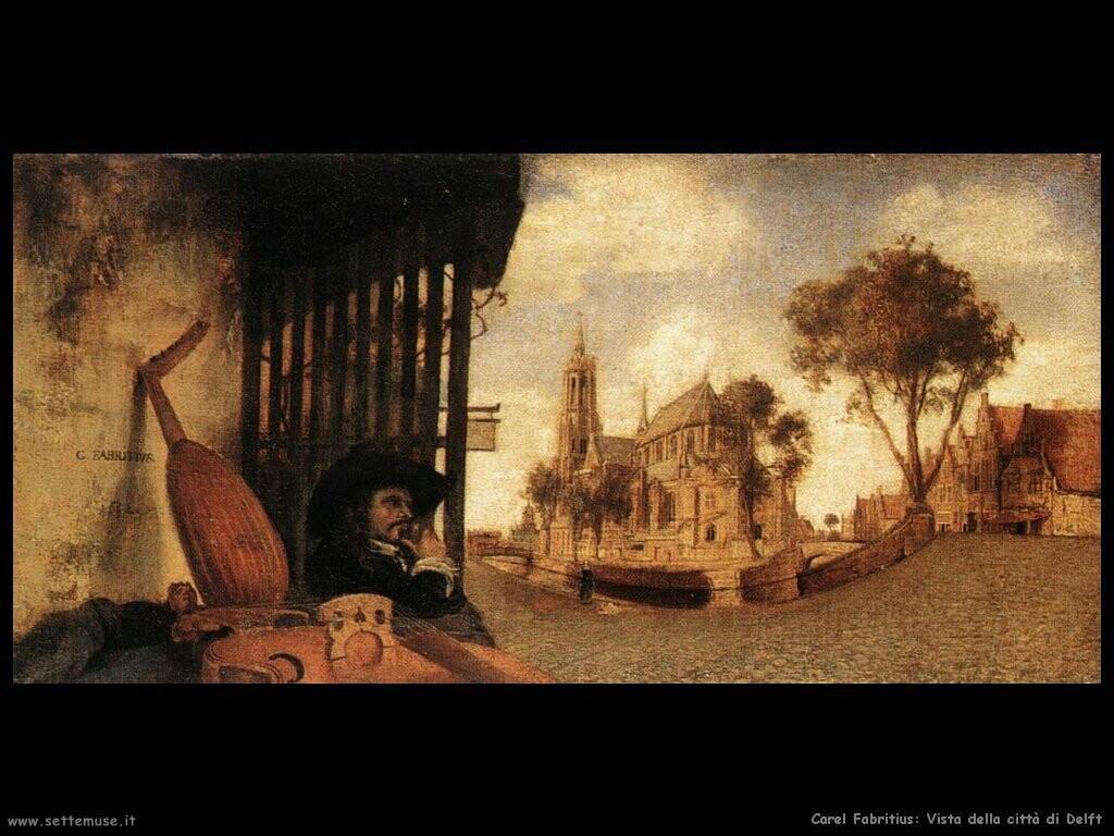 Vista della città di Delft