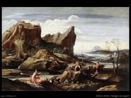 Paesaggio con bagnanti