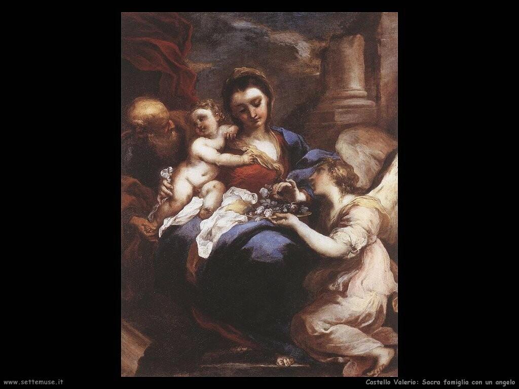 Sacra famiglia con angelo