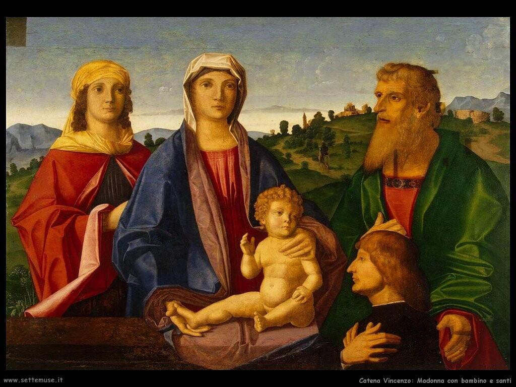 Madonna e bambino con santi