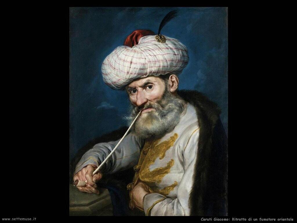 Ritratto di un fumatore orientale