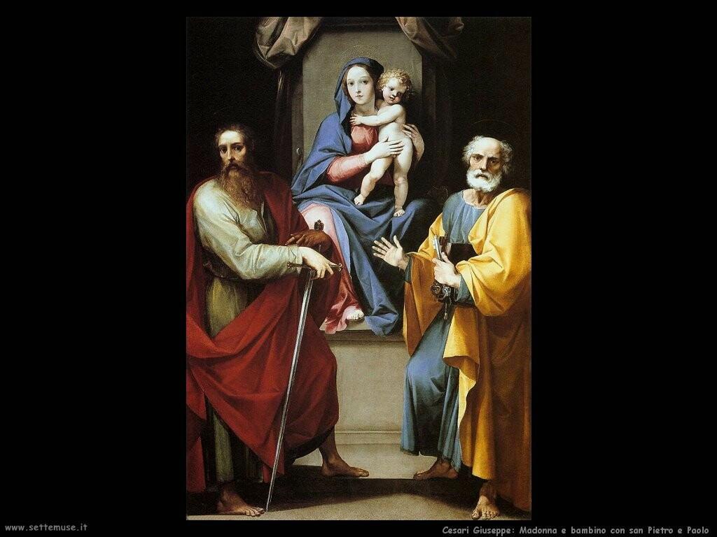Madonna e bambino con i santi Pietro e Paolo