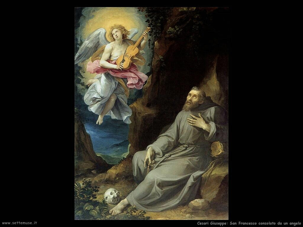 San Francesco consolato da un angelo