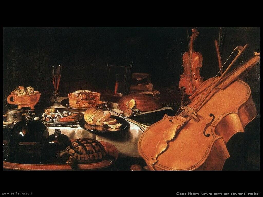 Natura morta con strumenti musicali