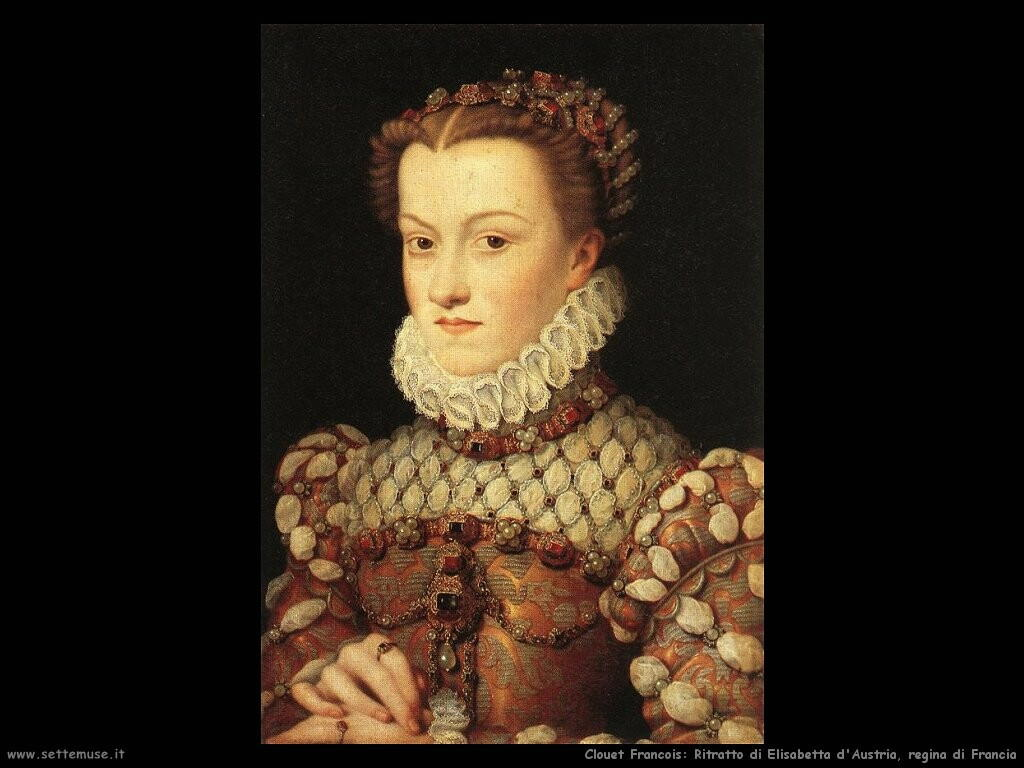 Ritratto di Elisabetta d'Austria, regina di Francia