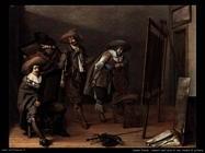 Amanti dell'arte in uno studio di pittore