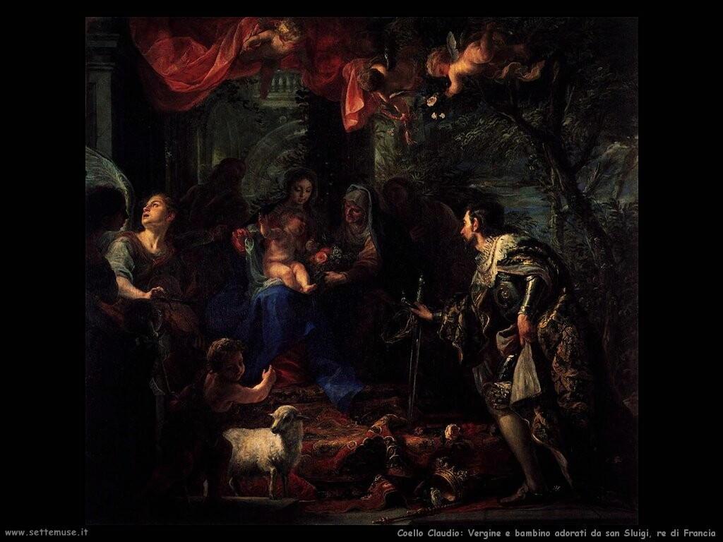 Vergine e bambino adorati da san Luigi, re di Francia