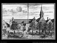 Vista di oude Gasthuis vecchio ospedale di Delft
