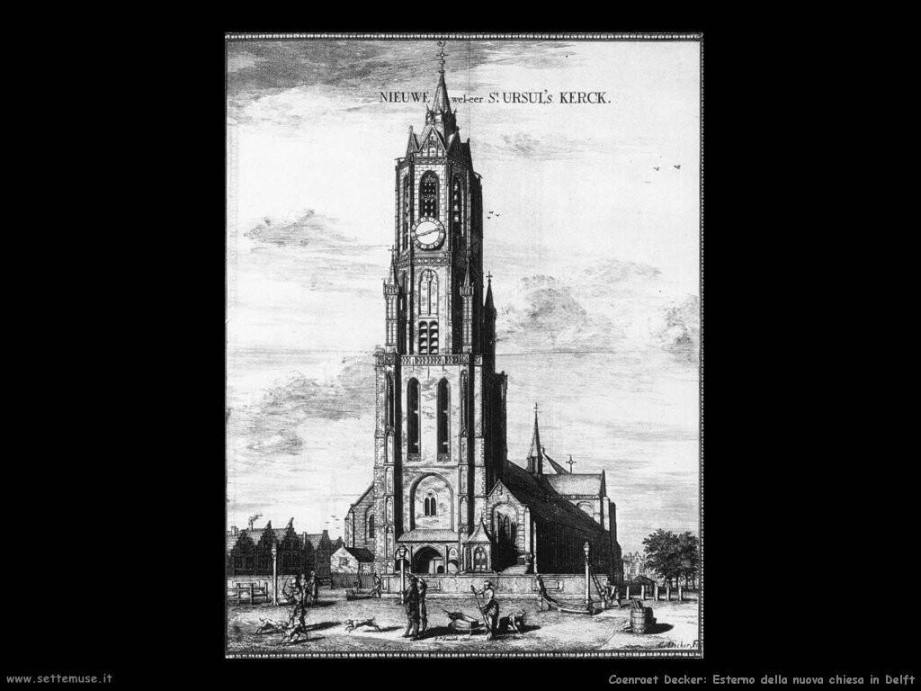 Esterno della nieuwe kerk in Delft