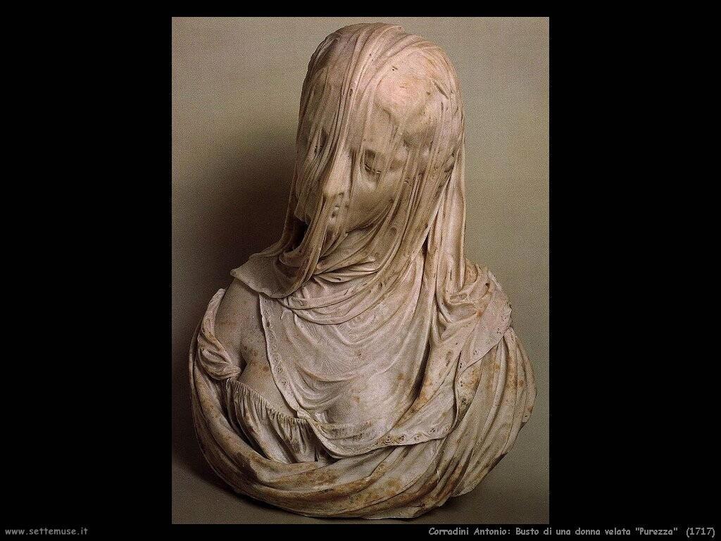 "Busto di donna velata ""Purezza"" (1717)"