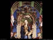 Madonna e bambino in trono