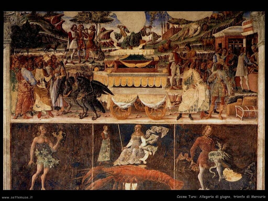 Allegoria di giugno, trionfo di Mercurio