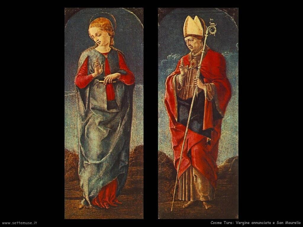 Vergine annunciata e san Maurelio