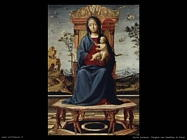 Vergine e bambino in trono