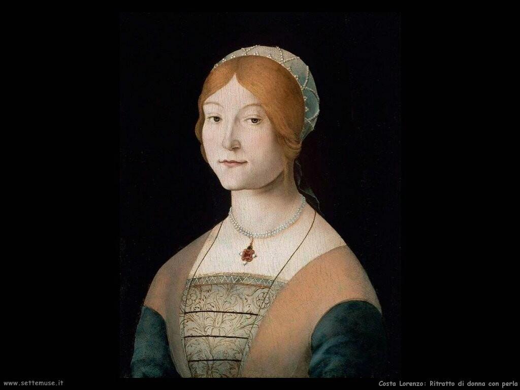 Ritratto di donna con perle
