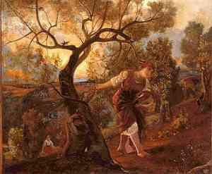 Albero dipinto di Nino Costa