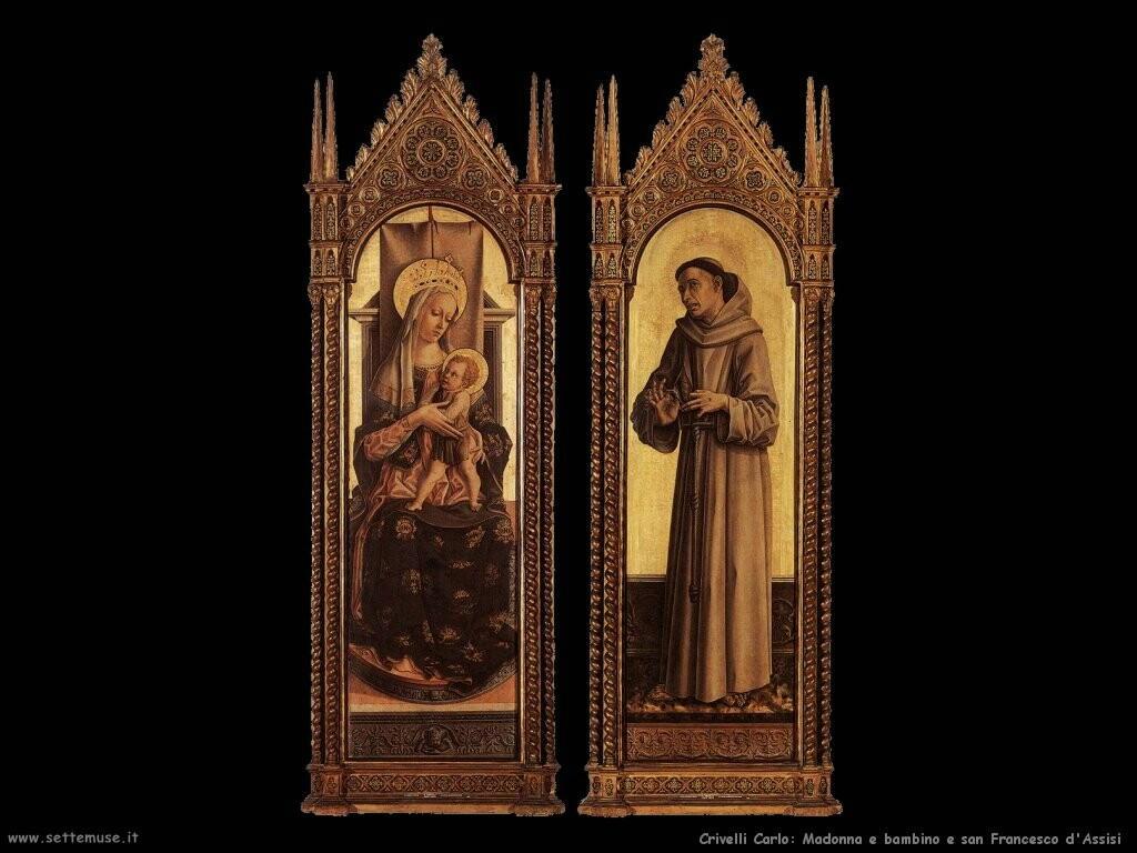 Madonna e bambino con san Francesco d'Assisi