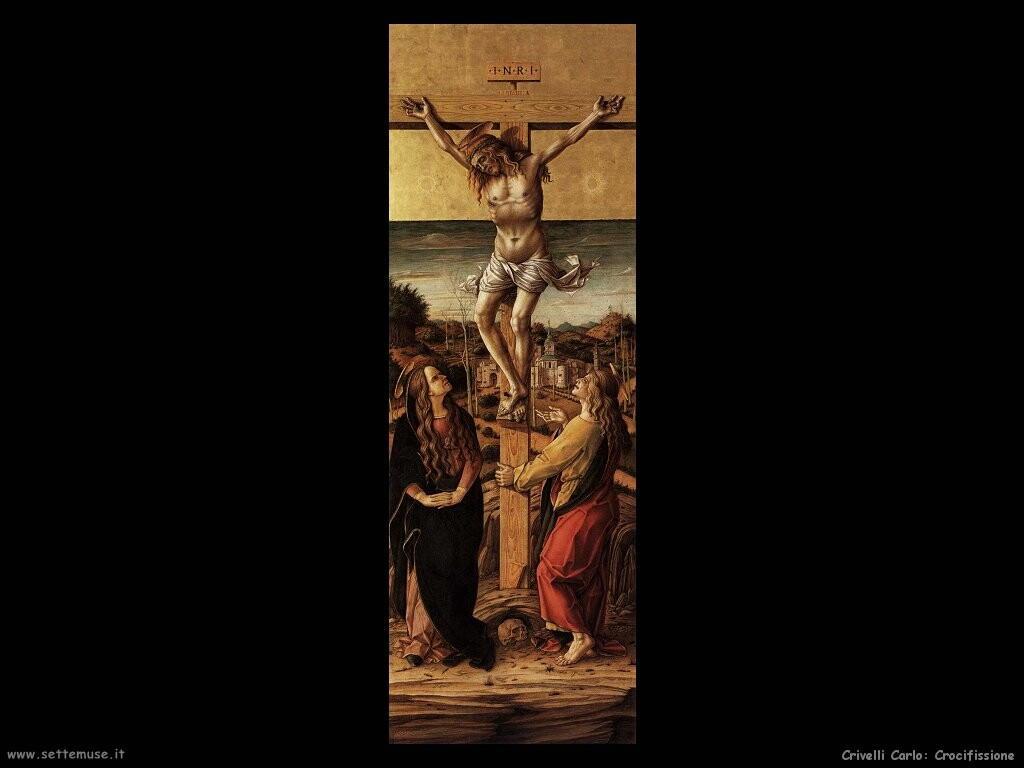 Crocifisso con la Vergine e san Giovanni evangelista