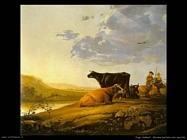 Giovane pastore con mucche