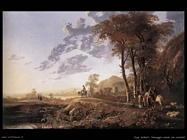 Paesaggio serale con pastori