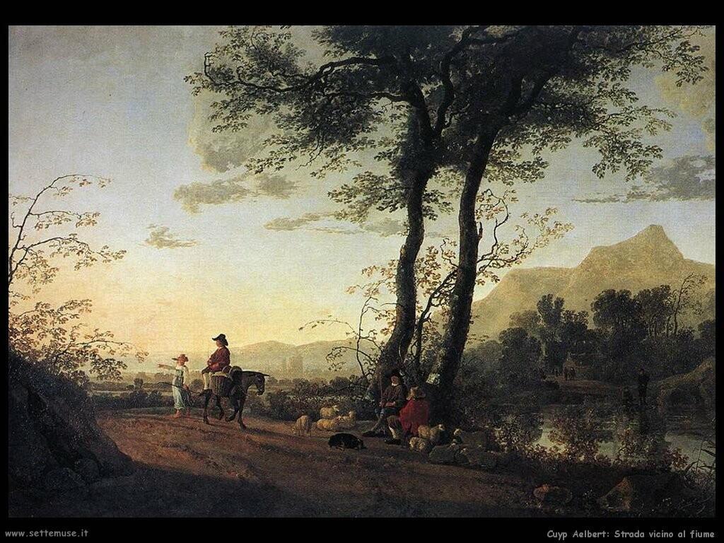 Una strada vicino al fiume