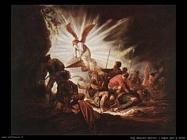 L'angelo mentre apre la tomba di Cristo