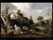 D hondecoeter gillis claesz Orfeo incanta gli animali