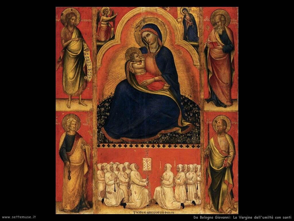 da bologna giovanni Vergine dell'umiltà con santi