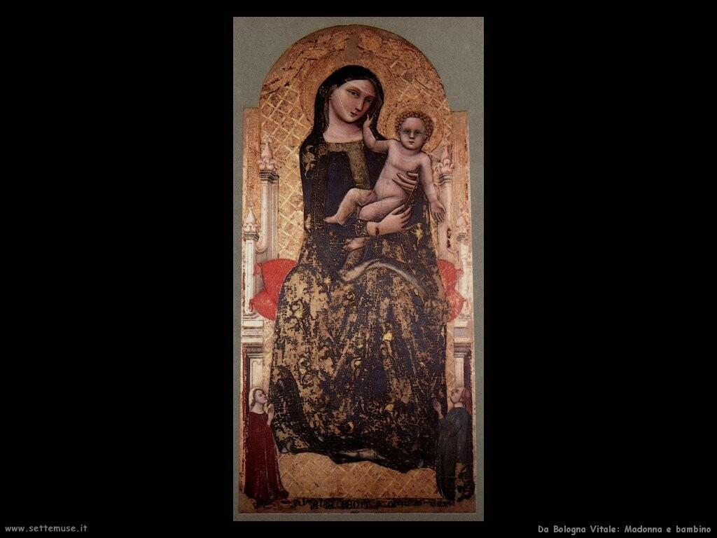 da bologna vitale Madonna con bambino