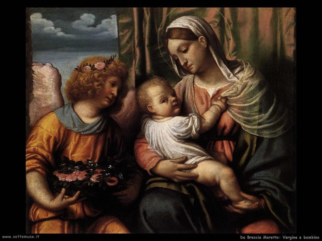 da brescia moretto Vergine e bambino