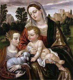 Dipinto di Alessandro Bonvicino detto Moretto da Brescia