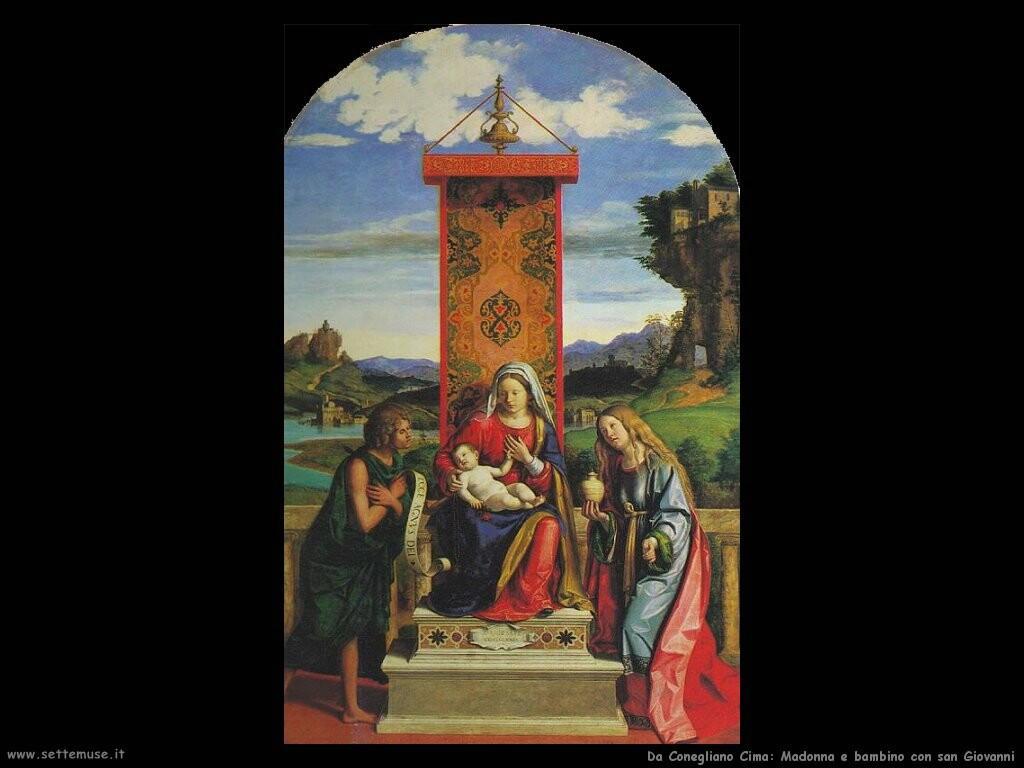 da conegliano cima Madonna e bambino con san Giovanni