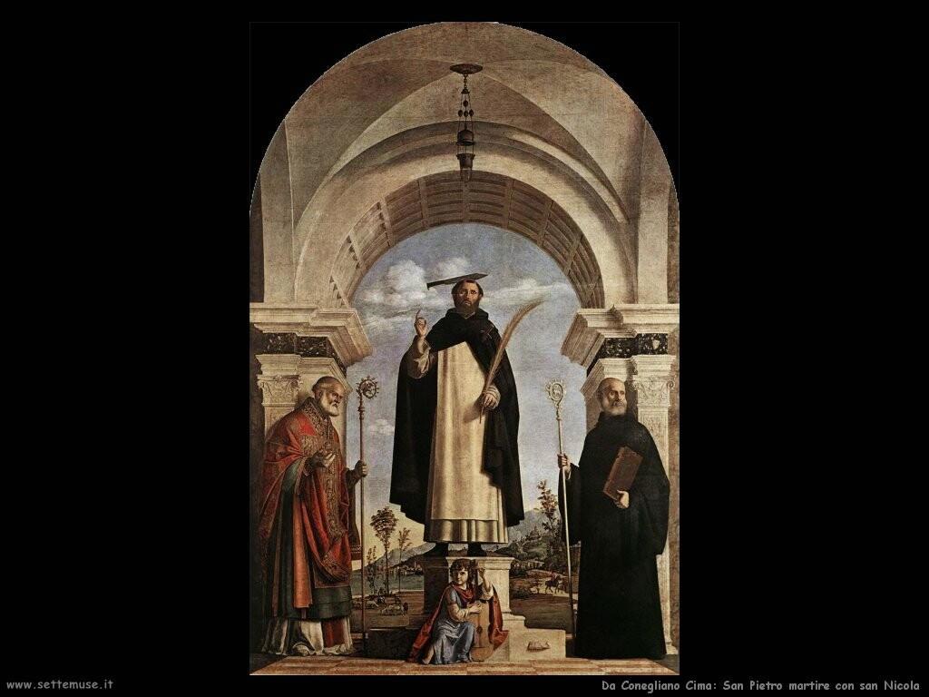da conegliano cima San Pietro martire con san Nicola