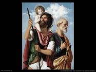 da conegliano cima San Cristoforo con l'infante Cristo