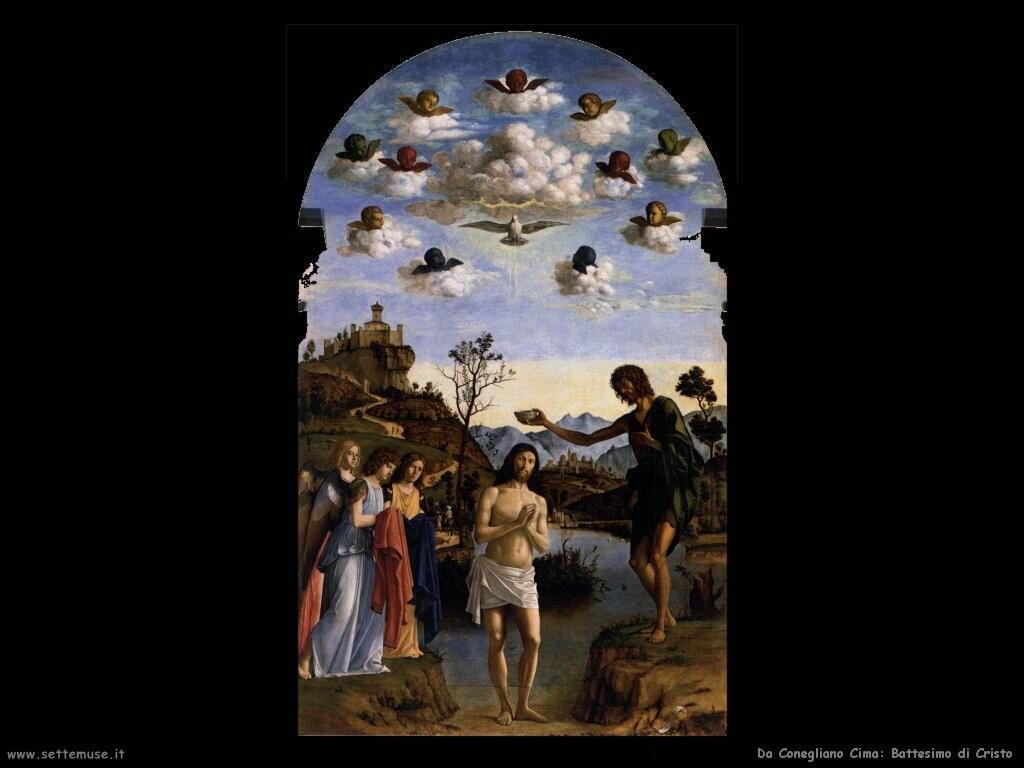 da conegliano cima Battesimo di Cristo