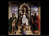 da conegliano cima San Pietro in trono con santi
