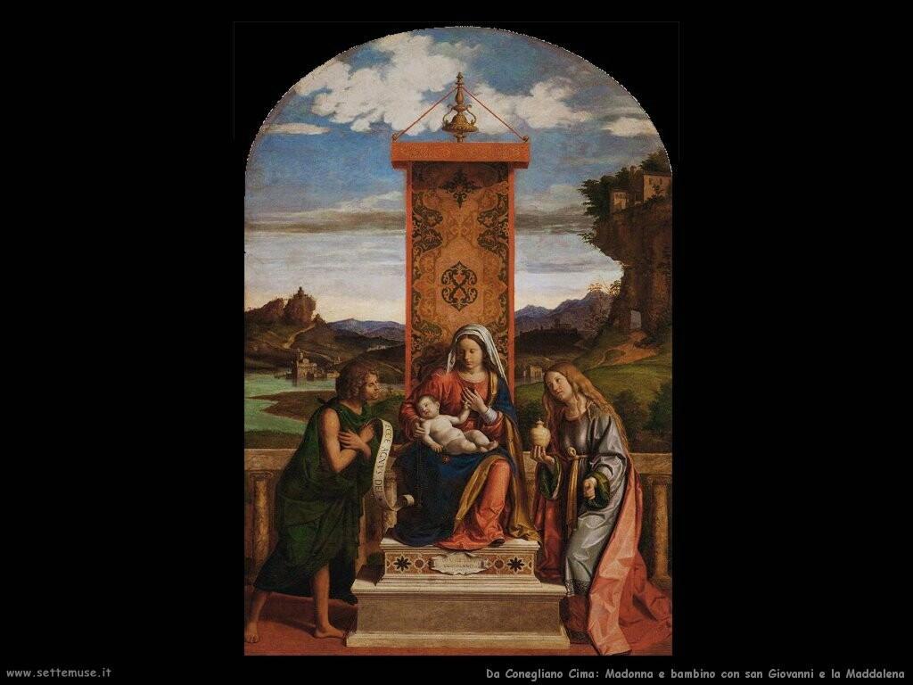 da conegliano cima Madonna e bambino con san Giovanni battista e Maria Maddalena