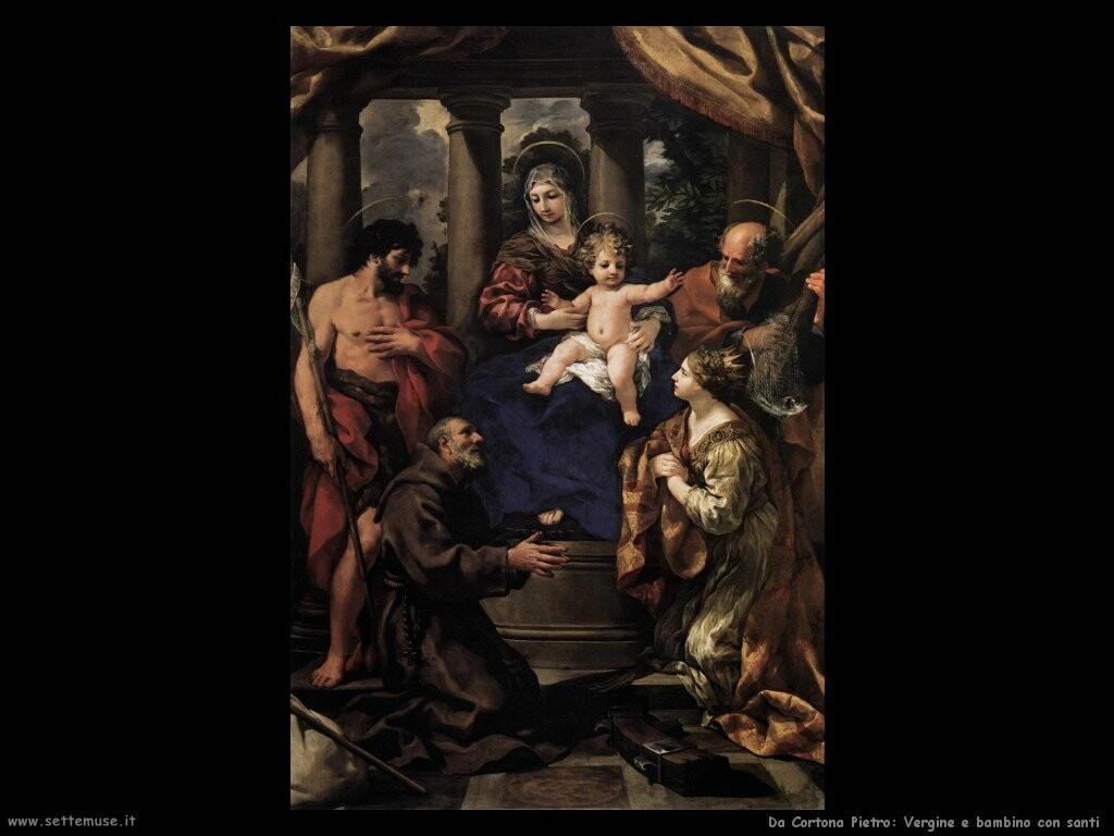da cortona pietro Vergine con bambino e santi